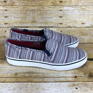Keds Striped Canvas Slip On Shoes